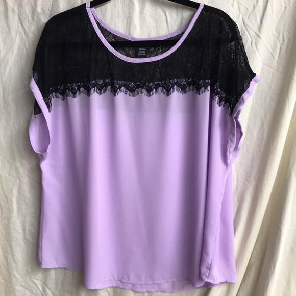 Mixed Intimate Items Torrid Sz 3 3x Lavender Purple Lace Flowy Shorts Nwot